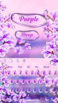 Charming Purple Water Droplets Keyboard screenshot 3
