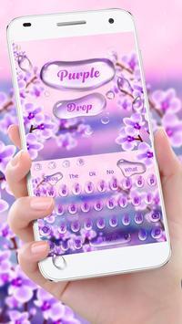 Charming Purple Water Droplets Keyboard poster