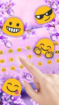 Charming Purple Water Droplets Keyboard screenshot 2