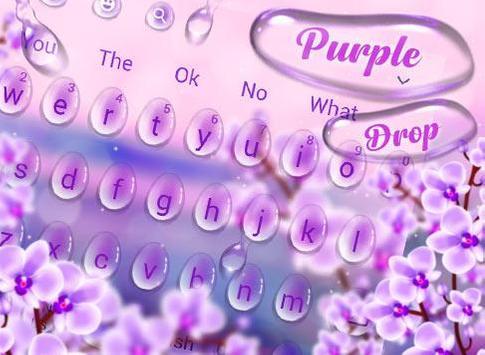 Charming Purple Water Droplets Keyboard screenshot 4