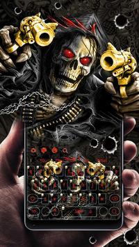 Horror Skull Gun Keyboard Theme poster