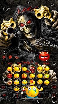 Horror Skull Gun Keyboard Theme screenshot 1