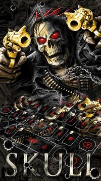 Horror Skull Gun Keyboard Theme screenshot 5