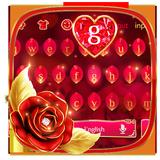 Luxurious Red Rose Keyboard Theme 🌹