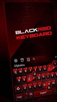 Black Red Edgy keyboard poster