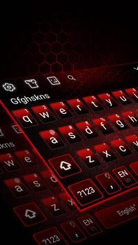 Black Red Edgy keyboard screenshot 1