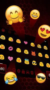 Black Red Edgy keyboard screenshot 2