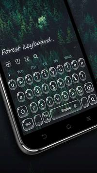 Forest keyboard poster