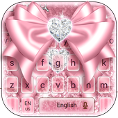 Rose Gold Bow Keyboard icon