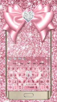 Rose Gold Bow Keyboard poster