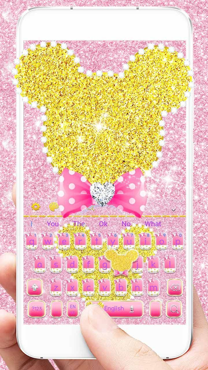 Aplikasi game pou Diamond sparkling Keyboard Theme