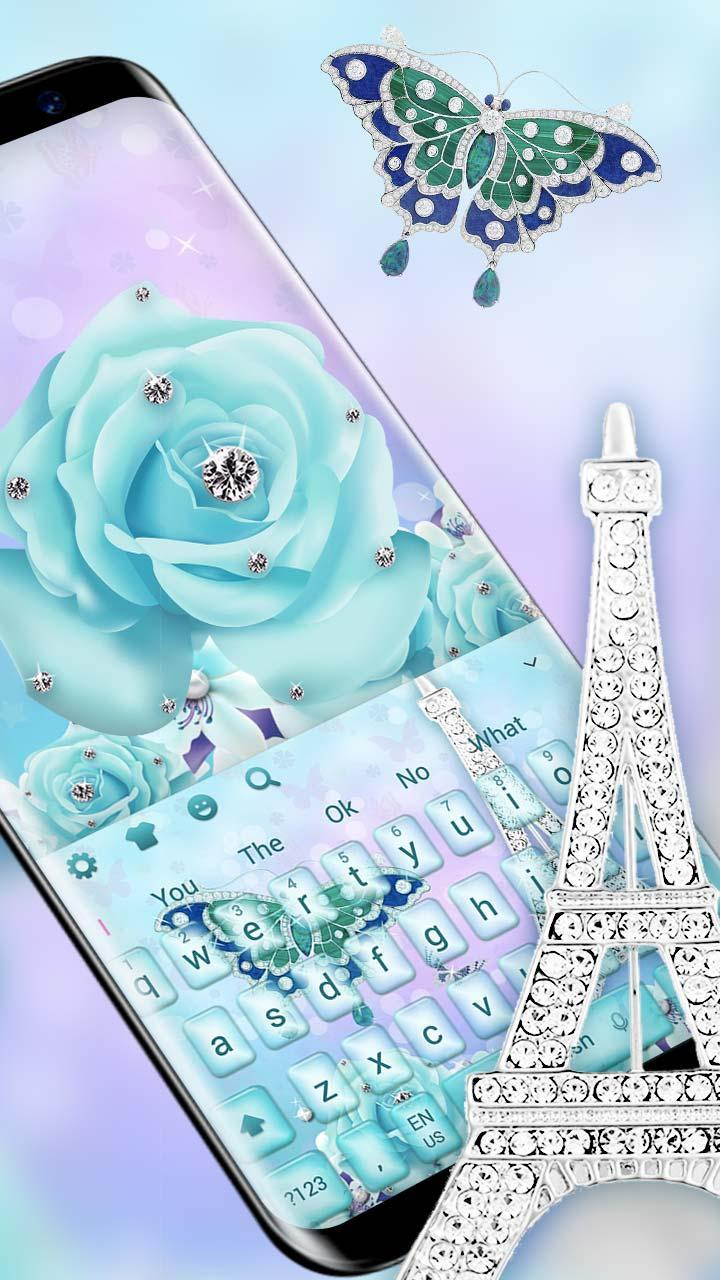 Blue Love In Paris Tower Keyboard Theme For Android APK