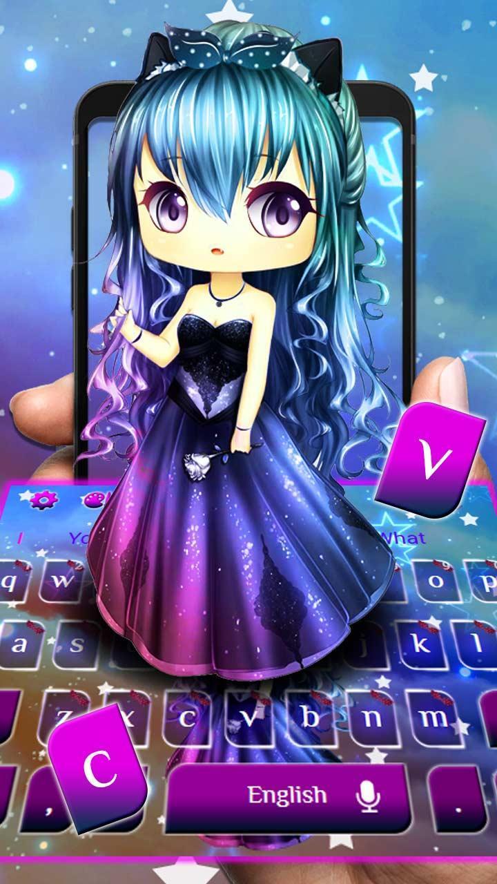 Anime Pastel Kawaii Girl Keyboard Theme for Android - APK Download