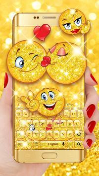 Sparkling emoji Keyboard poster