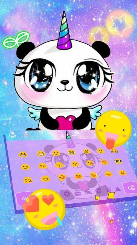 Galaxy Unicorn Panda Emoji Keyboard Theme For Android Apk Download