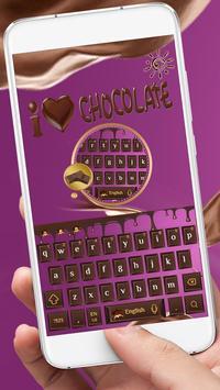 Love chocolate Keyboard poster