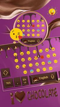 Love chocolate Keyboard screenshot 1