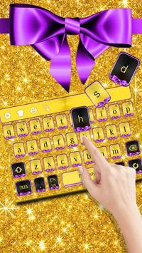 Glitter Gold Bow Keyboard poster