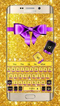 Glitter Gold Bow Keyboard screenshot 1