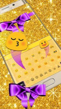Glitter Gold Bow Keyboard screenshot 2