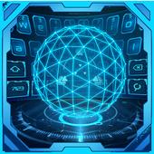 3D Next Tech Keyboard Theme icon