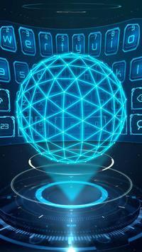 3D Next Tech Keyboard Theme poster