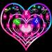 Teclado Neon Hearts