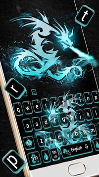 Neon Dragon Keyboard Theme poster