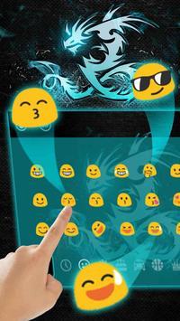 Neon Dragon Keyboard Theme apk screenshot