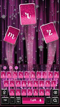 neon pink sexy keyboard black glittering light poster