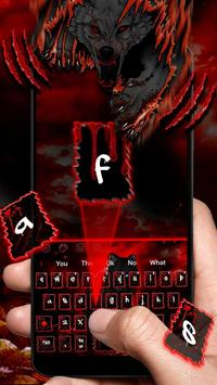 Night Blood Wolf Theme Keyboard screenshot 2