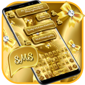 SMS Gold Bow Keyboard icon