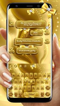 SMS Gold Bow Keyboard poster