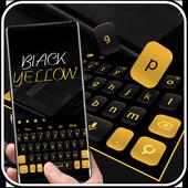 Simple Black Yellow Keyboard icon