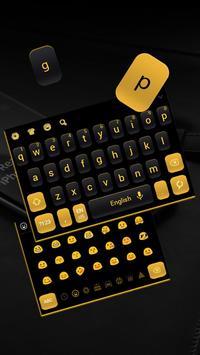 Simple Black Yellow Keyboard poster