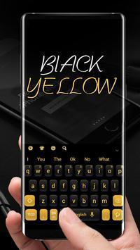 Simple Black Yellow Keyboard screenshot 1