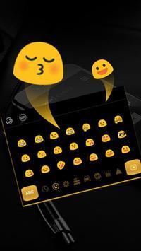 Simple Black Yellow Keyboard screenshot 2
