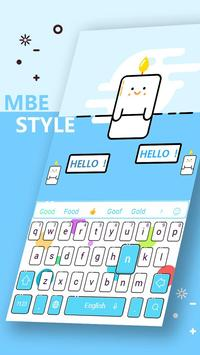 Clean simple blue keyboard poster