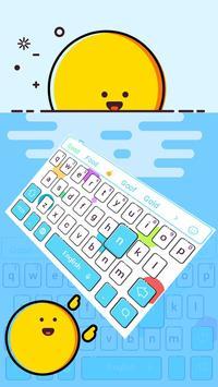 Clean simple blue keyboard apk screenshot