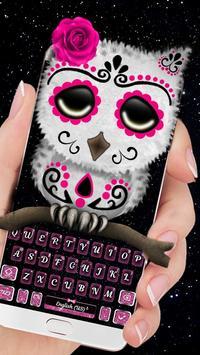 Sugar Skull Owl Keyboard Theme poster