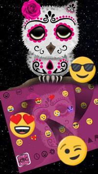 Sugar Skull Owl Keyboard Theme apk screenshot