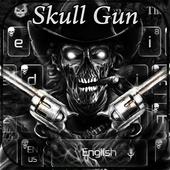 Skull two Gun Keyboard icon