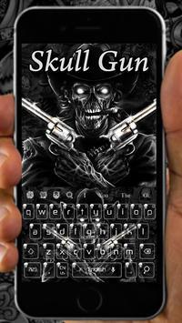 Skull two Gun Keyboard screenshot 1