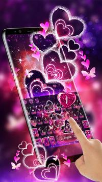 Sparkling Heart Keyboard Theme screenshot 1