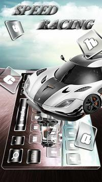 Speed Racing Keyboard Theme poster