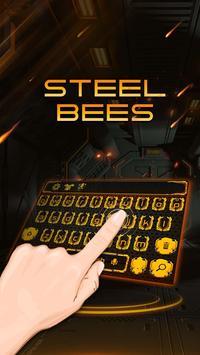 Steel bee keyboard poster
