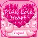 Teclado rosa do amor coração