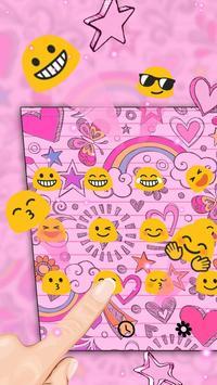Pink heart art keyboard apk screenshot