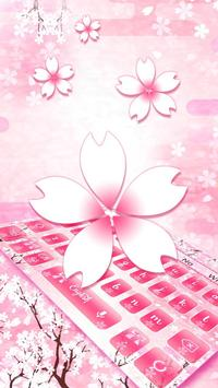 Pink Cherry Bloom Keyboard poster