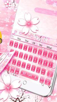 Pink Cherry Bloom Keyboard screenshot 2